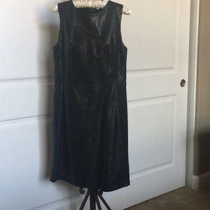 Black Leather Dress.